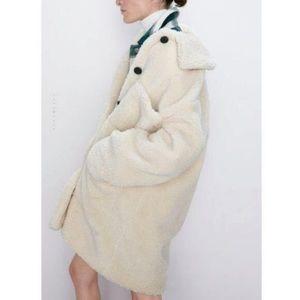 ZARA Teddy Sherpa Coat